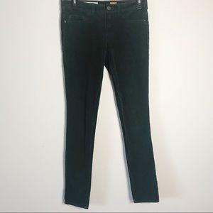 Anthro Pilcro Serif Skinny Corduroy Pants Green